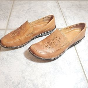 Women loafers leather size 8 shoes flats